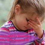 How to Make a Headache Balm with Coconut